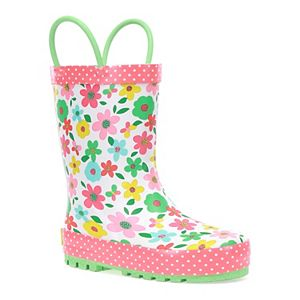 Western Chief Charming Garden Toddler Girls' Rain Boots
