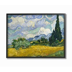 Stupell Home Decor Wheat Field Impressionist Painting Wall Art by Vincent Van Gogh