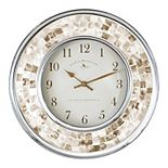 FirsTime & Co. Faux Pearl Mosaic Wall Clock