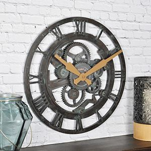 FirsTime & Co. Oxidized Gears Wall Clock