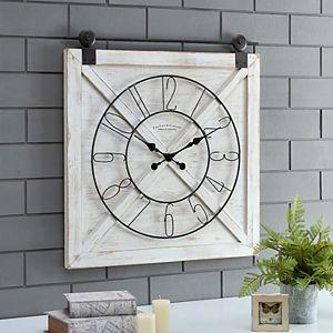 FirsTime Farmhouse Barn Door Wall Clock