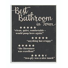 Stupell Home Decor Best Bathroom Plaque Wall Art