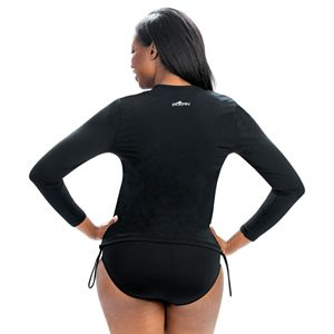 Plus Size Dolfin Aquashape Ruched-Side Rash Guard