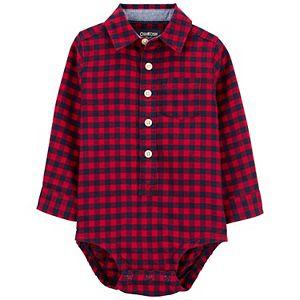Baby Boy OshKosh B'gosh® Buffalo Check Flannel Bodysuit