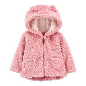 Baby Girl Carter's Hooded Sherpa Jacket