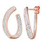 Chrystina Crystal Twisted C-Hoop Earrings
