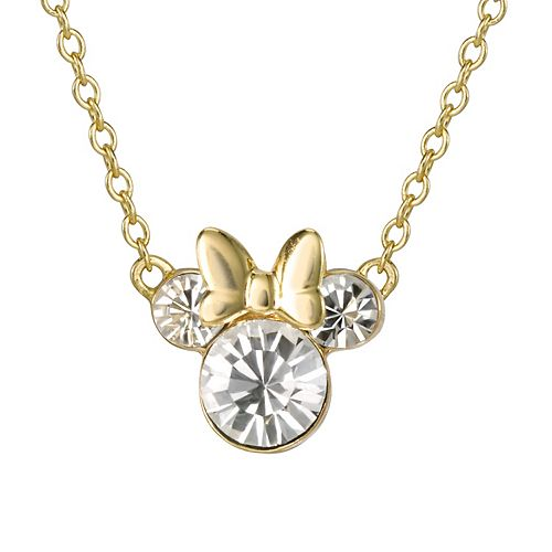 Disney's Minnie Mouse Crystal Necklace