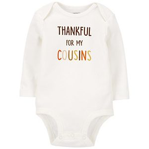 Baby Carter's Thankful For My Cousins Bodysuit