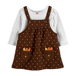 Baby Girl Carter's Thanksgiving Bodysuit & Jumper Set