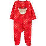 Baby Carter's Christmas Zip-Up Fleece Sleep & Play