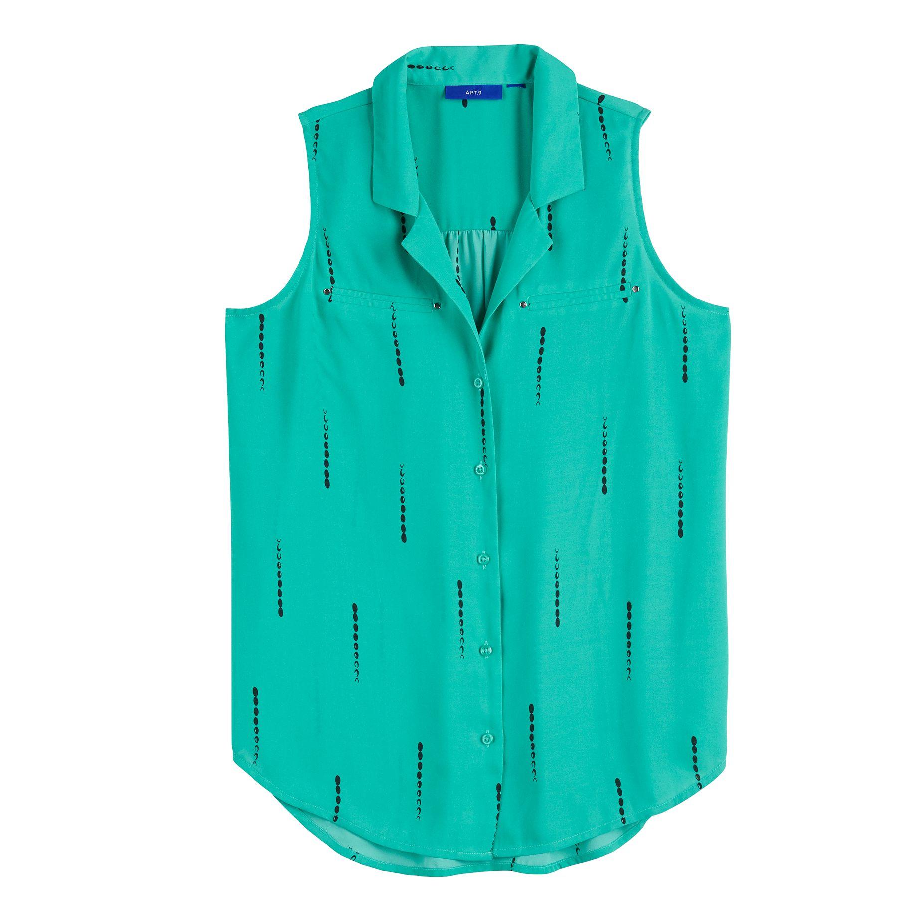 Women's Apt. 9® Notch Collar Sleeveless Top