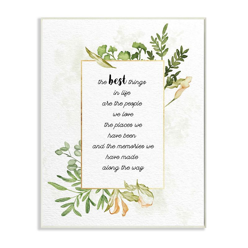 Stupell Home Decor The Best Things Plaque Wall Art, 10X15