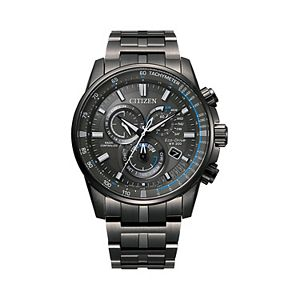 Citizen Eco-Drive Men's PCAT Black Ion Plated Atomic Watch - CB5887-55H