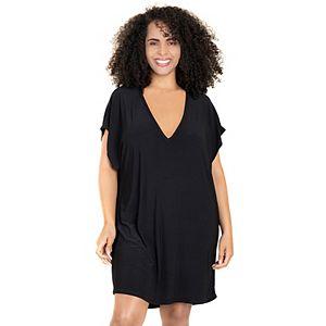Plus Size Jordan Taylor Beachwear Back-Cutout Cover Up