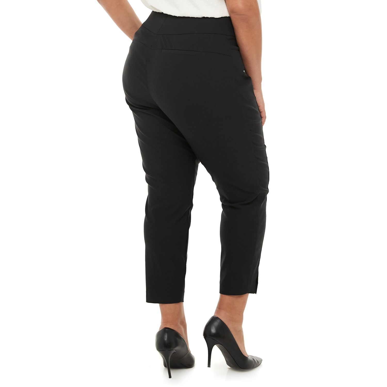 Plus Size Apt. 9® Tummy Control Pull-On Millennium Ankle Pants