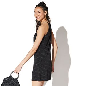 Juniors' Vylette? High Neck Halter Knit Dress