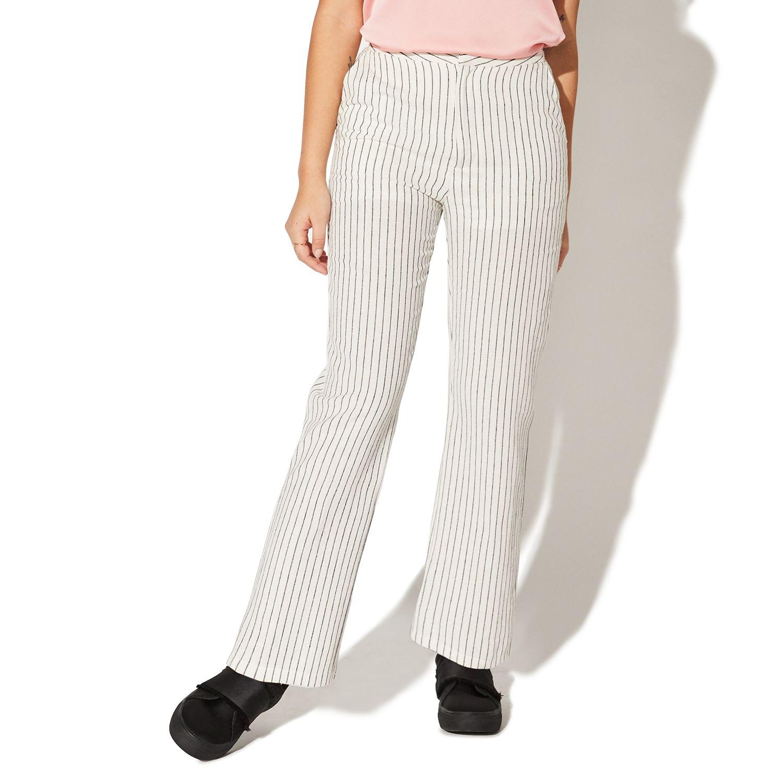 Juniors' Vylette™ Striped Linen Ankle Pants