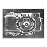 Stupell Home Decor Camera with Heart Lens Wall Plaque Art