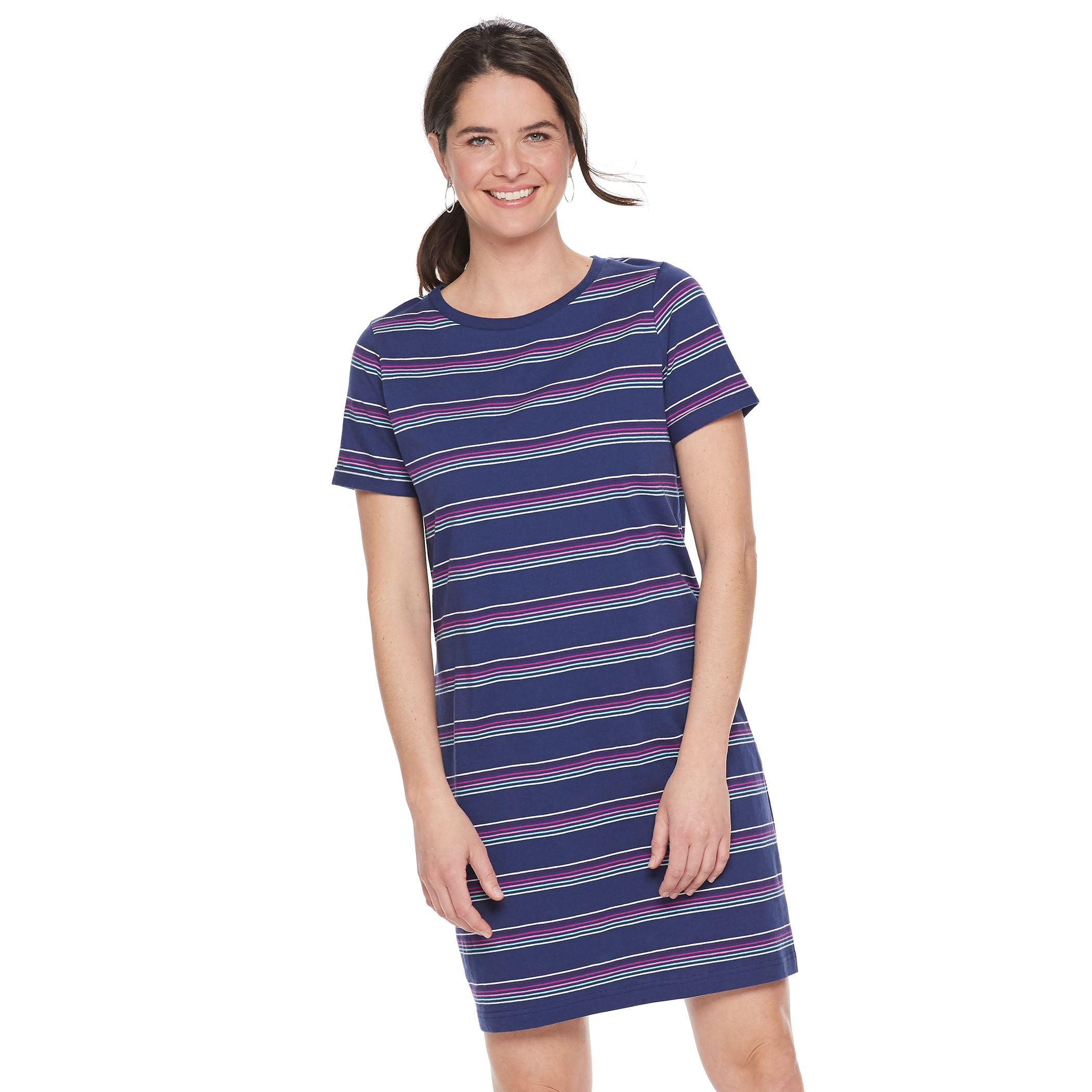 Women's Sonoma Goods For Life® Rolled-Sleeve T-Shirt Dress