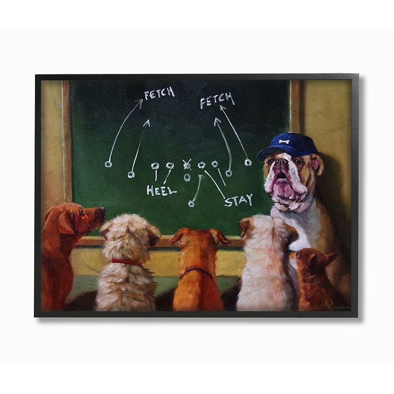 Stupell Home Decor Dog New Tricks Framed Wall Art. Multicolor. 16X20