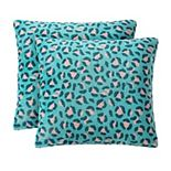 The Big One® Cheetah 2-pack Indoor Outdoor Throw Pillow Set