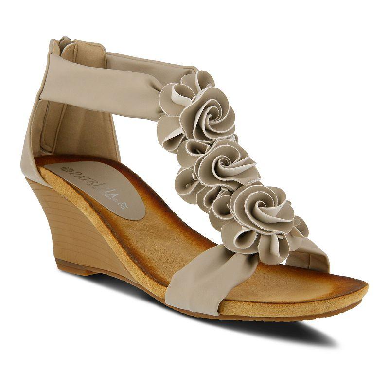 Patrizia Harlequin Women's Wedge Sandals, Size: 40, Beig/Green