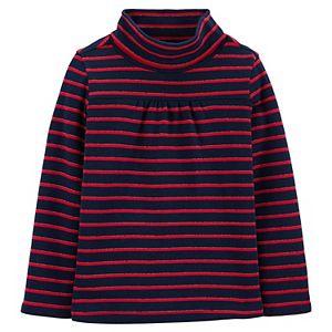 Toddler Girl OshKosh B?gosh® Sparkle Striped Turtleneck