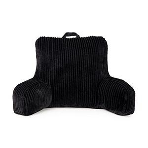 The Big One Gray Cut Plush Stripe Backrest Pillow