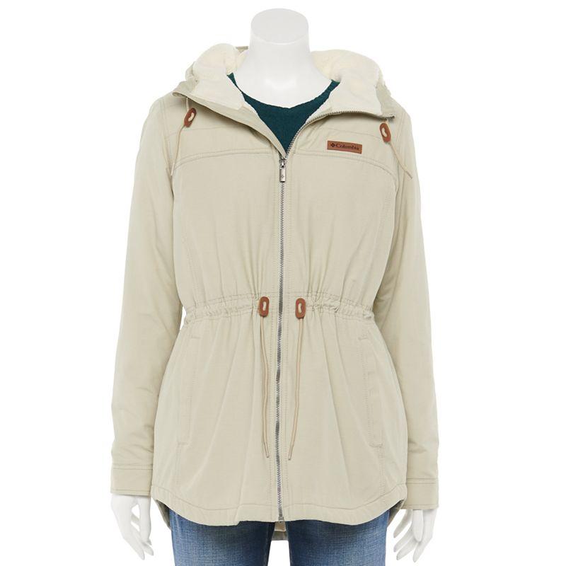 Women's Columbia Chatfield Hill Print Sherpa-Lined Jacket, Size: XL, White