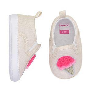 Baby Girl Carter's Ice Cream Cone Slip On Crib Shoes