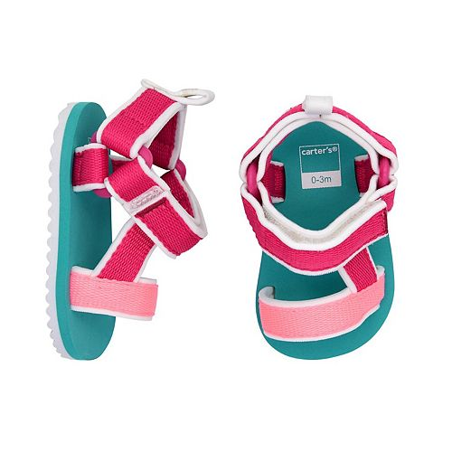 Carters Girls Strappy Sandals Crib Shoe