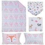Girls Carter's Geometric 4 Piece Toddler Bedding Set