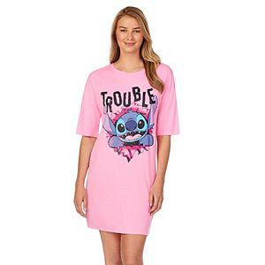 "Women's Disney Lilo & Stitch ""Trouble"" Graphic Sleepshirt"
