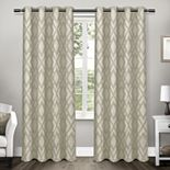 Exclusive Home 2-pack Easton Jacquard Blackout Window Curtains