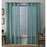 Exclusive Home 2-pack Sena Two Way Slub Yarn Sheer Window Curtains