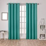 Exclusive Home Raw Silk Woven Blackout Window Curtains