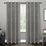 Exclusive Home 2-pack Oakdale Motif Textured Sheer Window Curtains