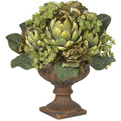 nearly natural Silk Artichoke Centerpiece