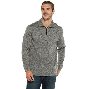 Big & Tall Haggar Quarter-Zip Sweater Fleece Pullover