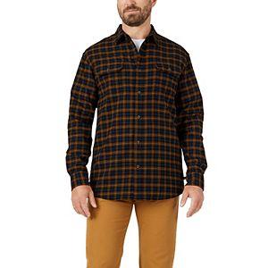 Men's Dickies FLEX Plaid Flannel Button-Down Shirt