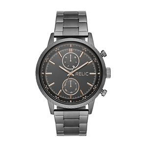 Relic by Fossil Men's Zachary Gunmetal Bracelet Watch - ZR12609