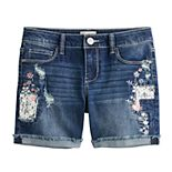 Girls 4-18 SO® Distressed Shorts