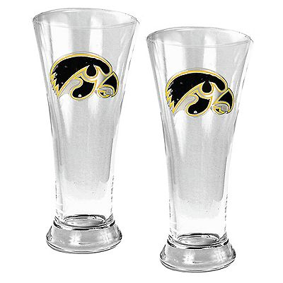 University of Iowa Hawkeyes 2-pc. Pilsner Glass Set