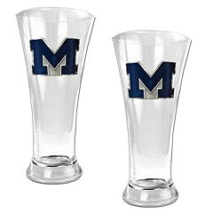 University of Michigan Wolverines2-pc.Pilsner Glass Set