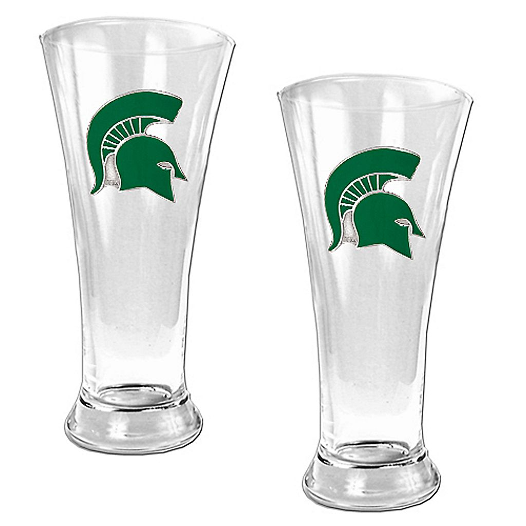 Michigan State University Spartans 2-pc. Pilsner Glass Set