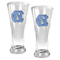 North Carolina Tar Heels 2 pc Pilsner Glass Set