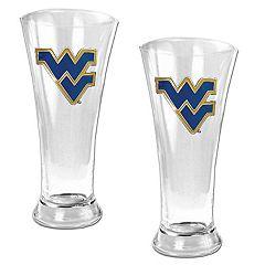 West Virginia University Mountaineers 2 pc Pilsner Glass Set