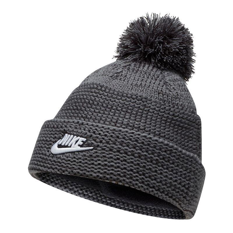 Men's Nike Cuffed Pom Beanie, Grey
