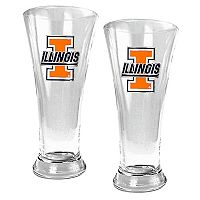 University of Illinois Fighting Illini 2 pc Pilsner Glass Set
