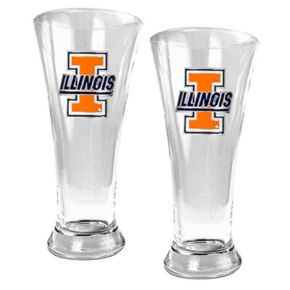 University of Illinois Fighting Illini 2-pc. Pilsner Glass Set